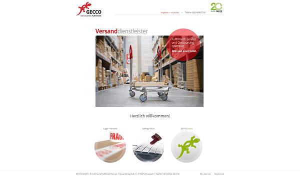 Gecco GmbH Website Teaser
