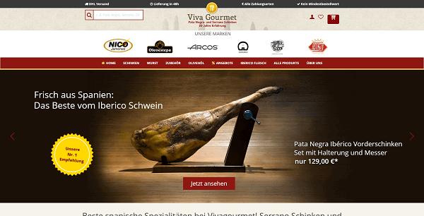 Viva Gourmet Website Teaser